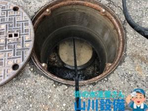 和泉市納花町で浄化槽側からの高圧洗浄は山川設備にお任せ下さい。