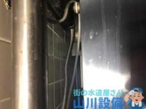 大阪市北区曾根崎新地で立水栓側のフレキナットからの水漏れは山川設備にお任せ下さい。