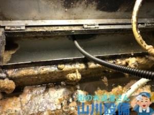 神戸市中央区東川崎町で排水管の20m通管作業は山川設備にお任せ下さい。