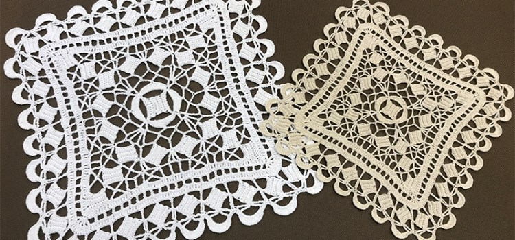 Crocheted lace Doily
