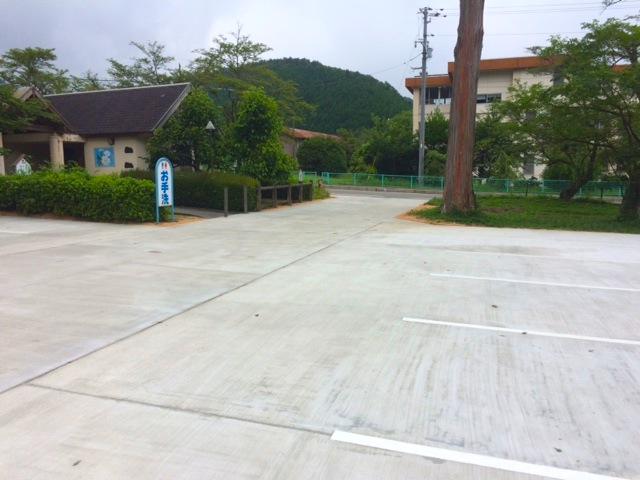 桜の名所|徳佐八幡宮の駐車場整備終了
