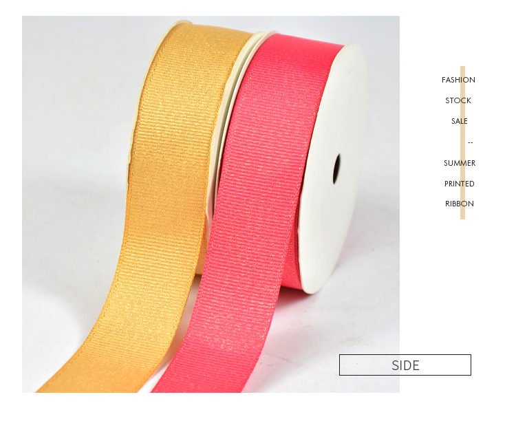 Gold Purl Grosgrain Ribbon