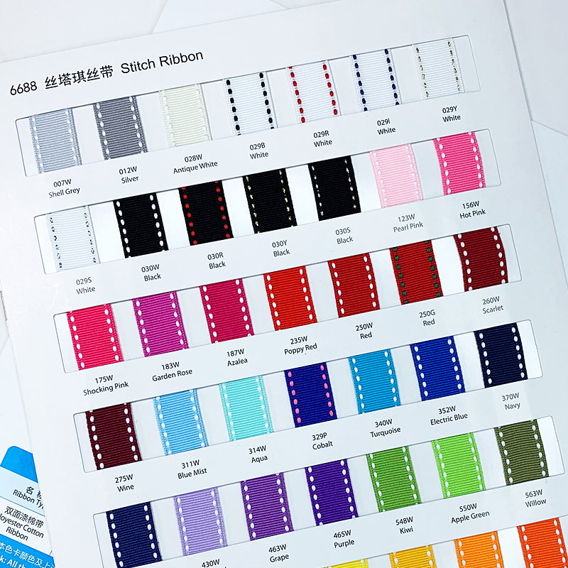 ribbon color charts