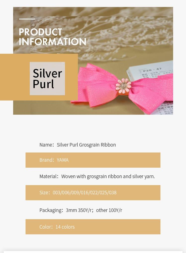 Silber Purl Ripsband