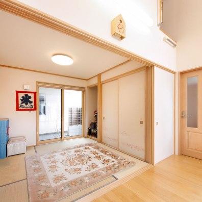 和室はリビングと一続きに|建築実例201607-05