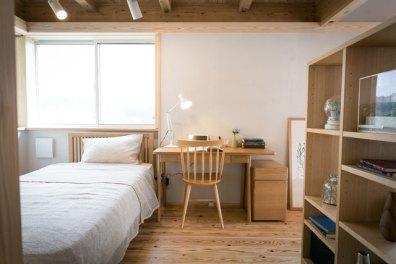 家具で仕切ることで、それぞれの空間を。