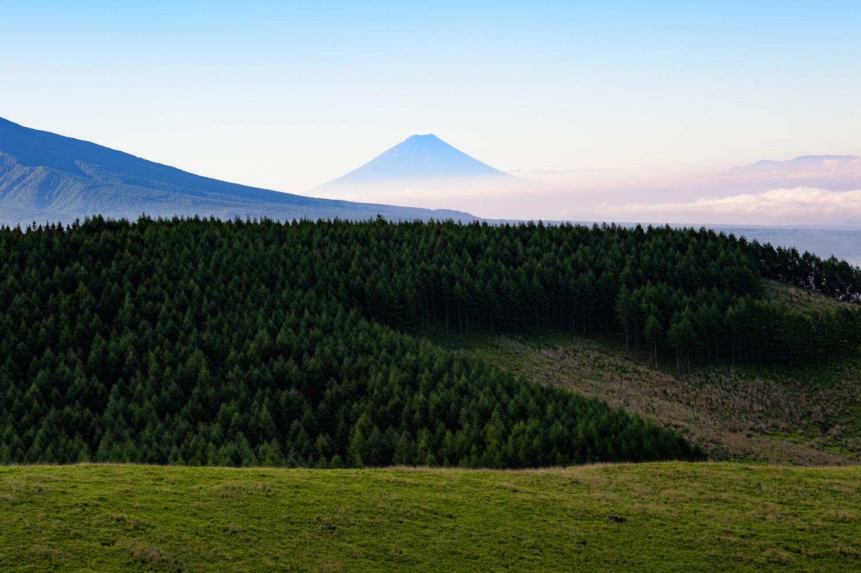 霧ヶ峰から見える富士山