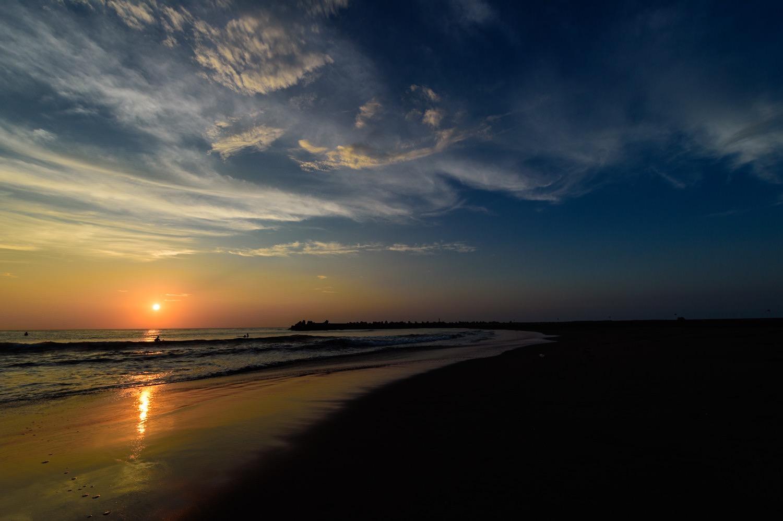 一宮海岸の海岸線