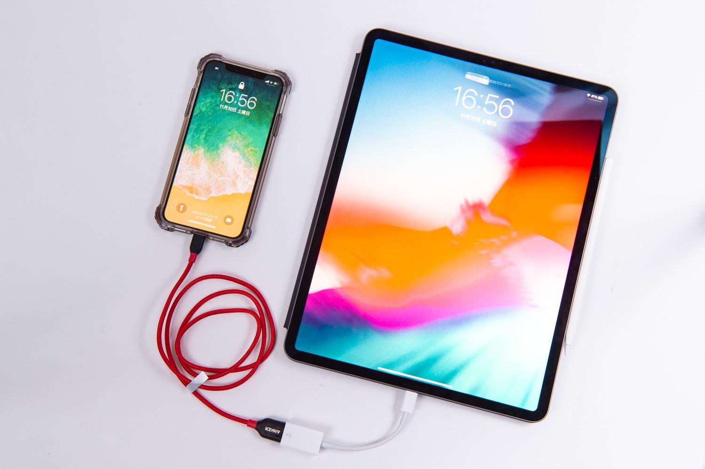 iPadからiPhoneへの充電