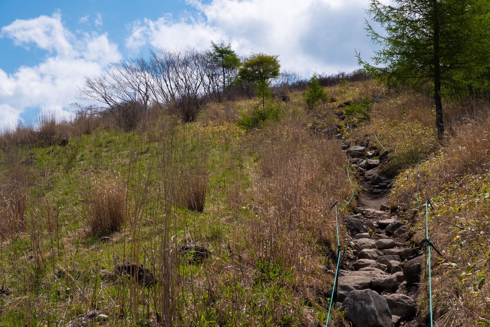 車山肩への道