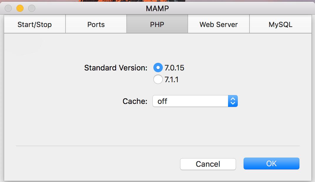 PHPのバージョンを落とす