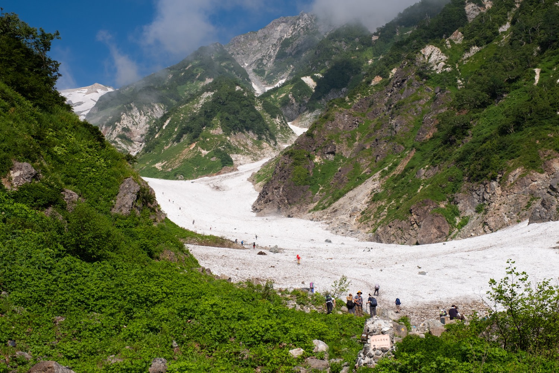 白馬大雪渓のアプローチ