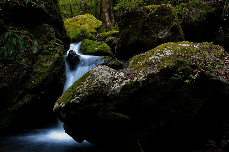 主題は1つにすることで渓谷はキレイに撮れる