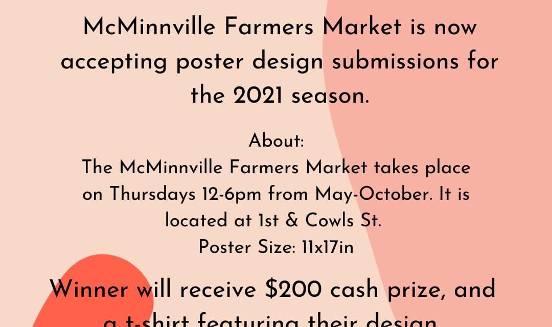 McMinnville Farmers Market Poster Submissions Open
