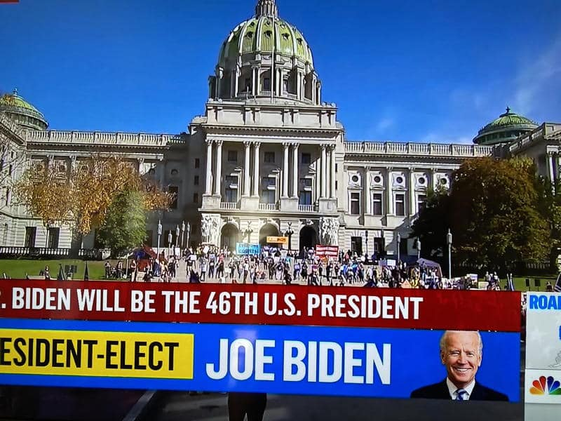 Joe Biden defeats Donald Trump for president