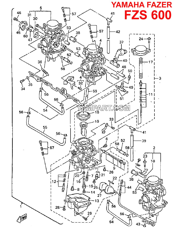 Fazer Fzs 600 Carb Parts