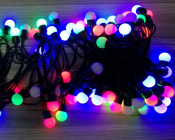Outside Blinking LED Colored Christmas Lights | YanDecor
