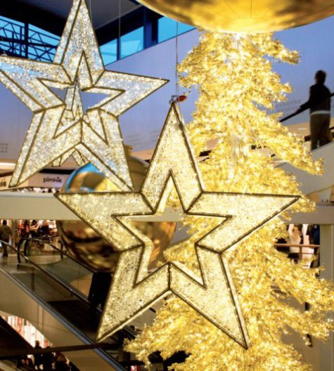 large christmas ornaments led star decorations - Large Christmas Decorations
