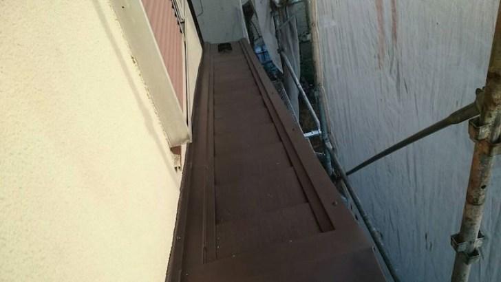 施工後の下屋根の状態