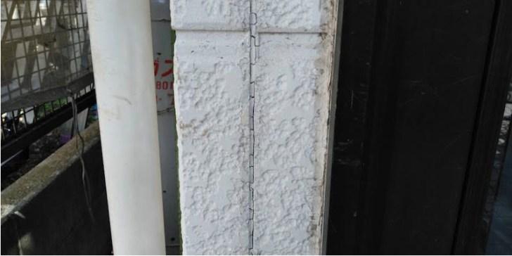 外壁のコーキングの交換工事