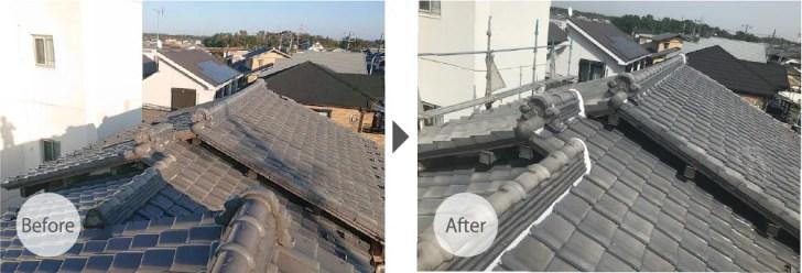 千葉市の屋根葺き替え工事のビフォーアフター