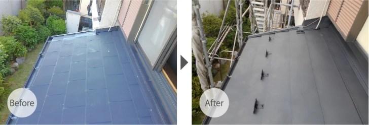 柏市の雨漏り修理のビフォーアフター