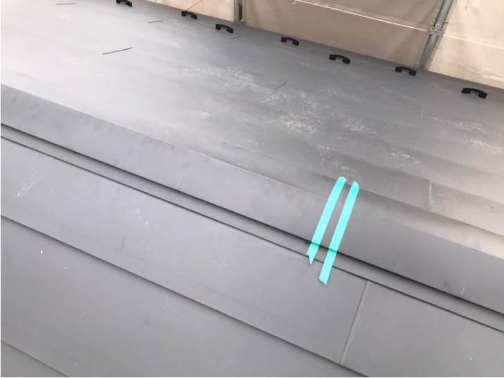 船橋市の屋根リフォームの棟板金の取り付け