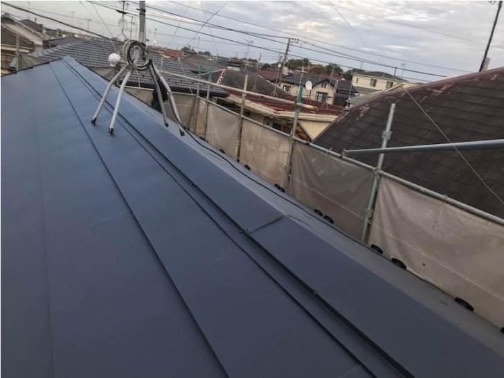 船橋市の屋根リフォームの施工後の様子