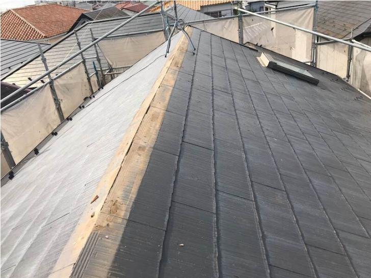 船橋市の屋根リフォームの棟板金の撤去解体