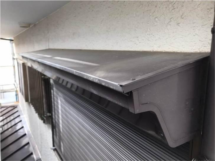 下屋根の塗装の施工前の様子