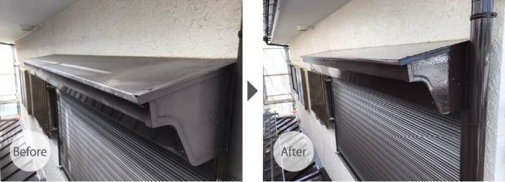 船橋市の屋根修理の施工前と施工後の様子