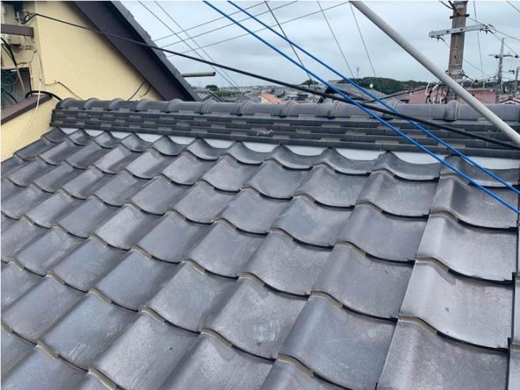 屋根の漆喰の施工後の様子