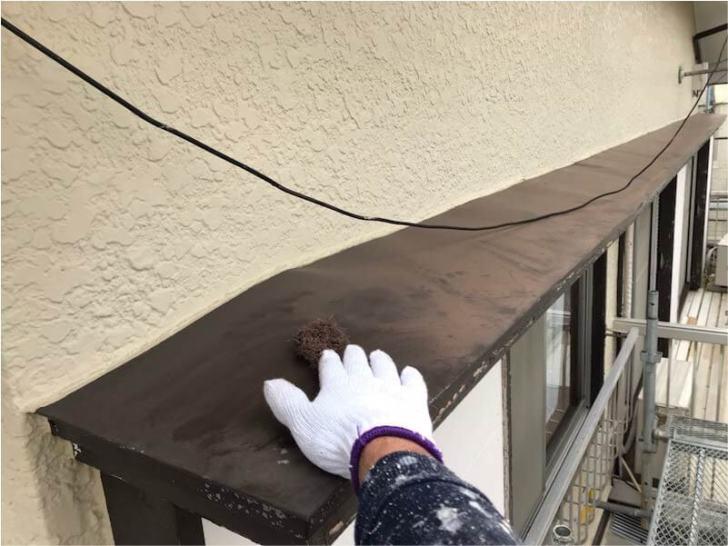 松戸市の外壁塗装の鉄部の塗装