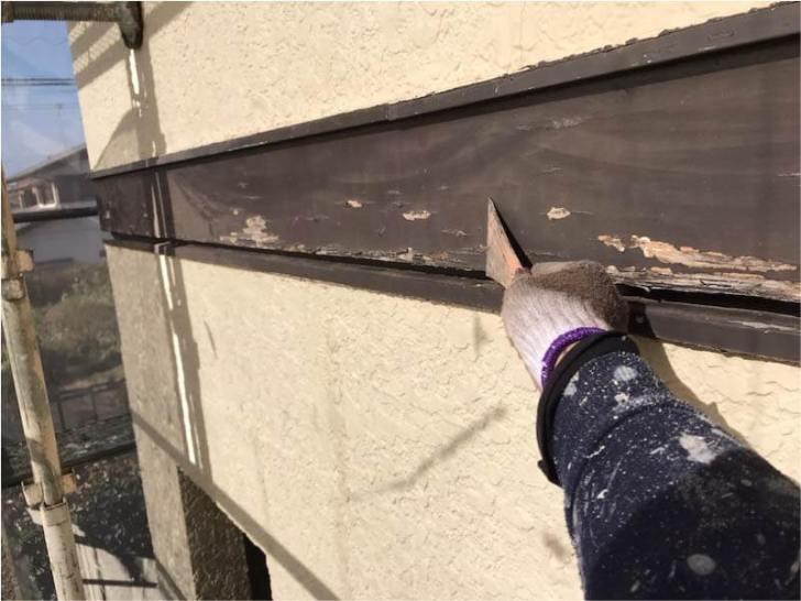 外壁の幕板の塗装