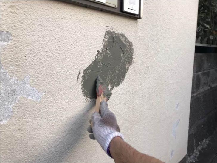 松戸市の外壁塗装の下地補修