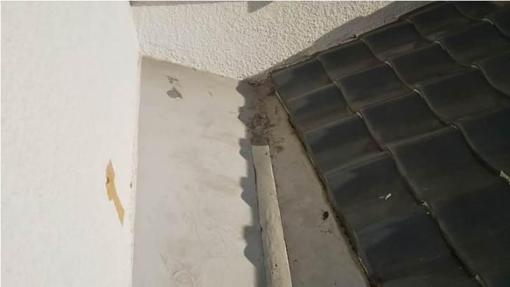 習志野市の屋根の葺き直し工事の施工前の様子