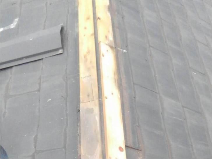 習志野市の屋根リフォームの棟板金の撤去