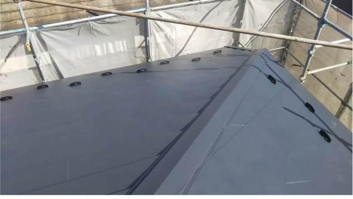 千葉市の屋根リフォームの屋根板金の施工