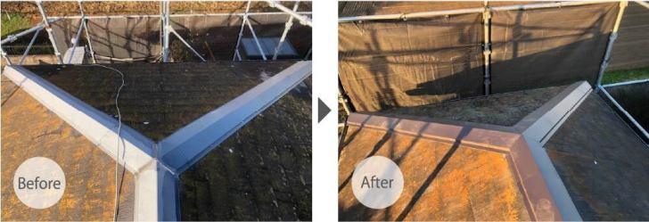 野田市の屋根修理のビフォーアフター