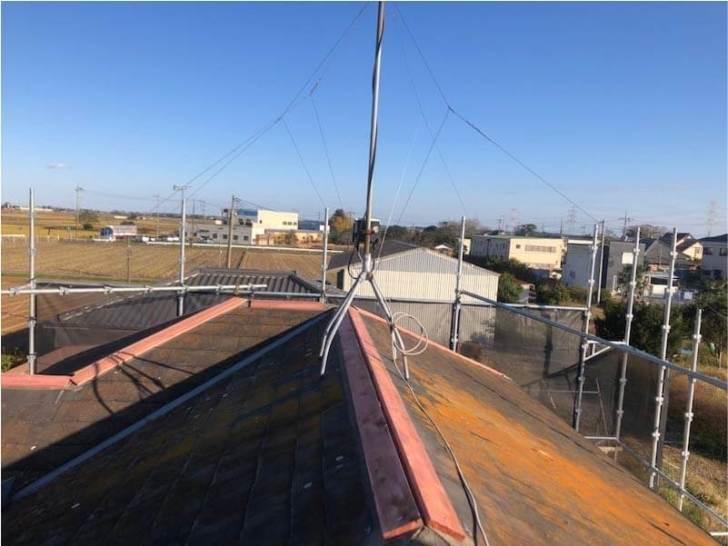 野田市の屋根修理の棟下地の取り付け