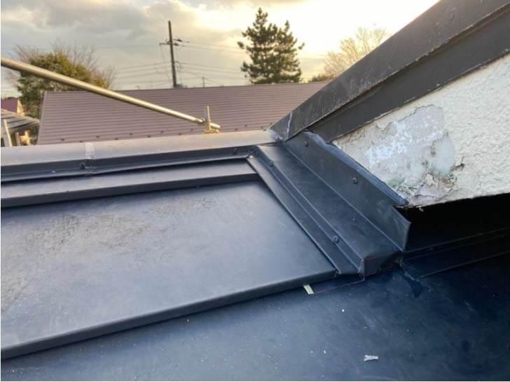 千葉市の屋根リフォームの屋根板金の設置