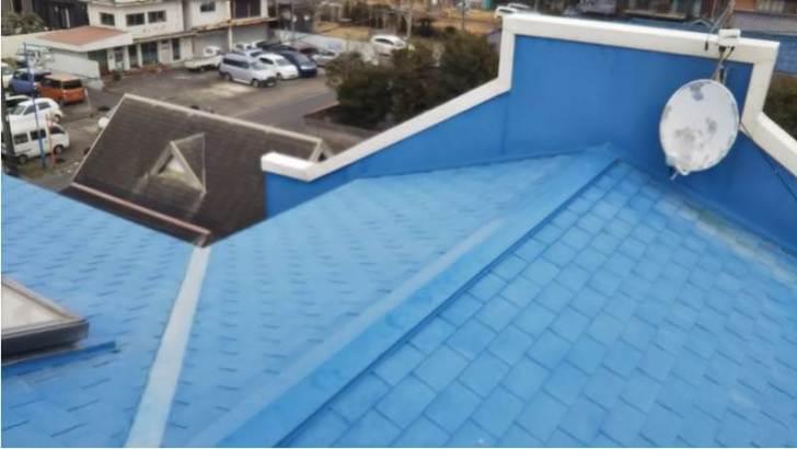九十九里町の屋根リフォームの施工前の様子