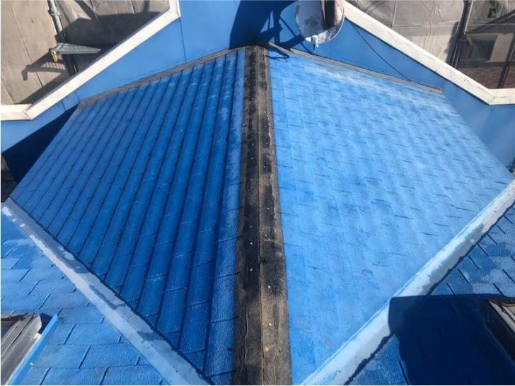 九十九里町の屋根リフォームの棟板金の撤去・解体