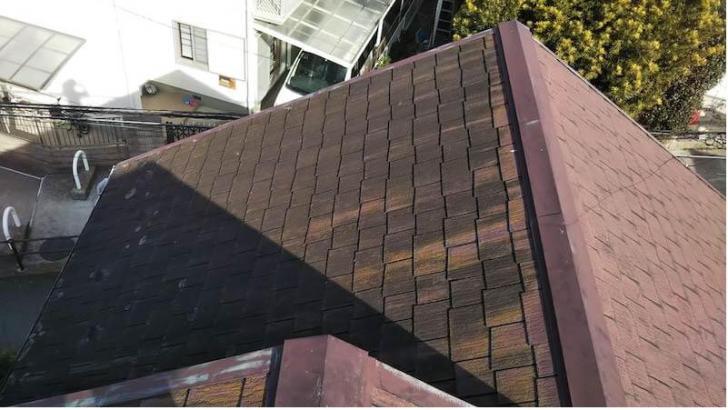 松戸市の屋根カバー工法の施工前の様子