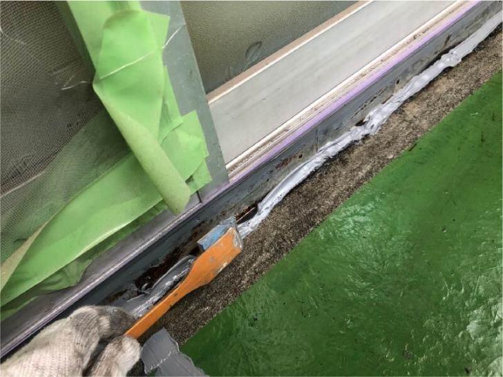 蕨市のベランダ防水工事