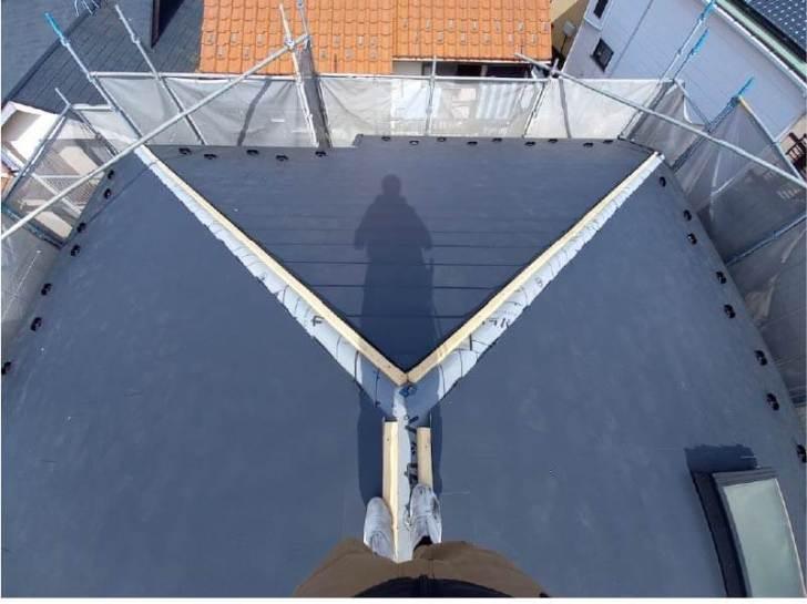 松戸市の屋根リフォームのカバー工法の施工