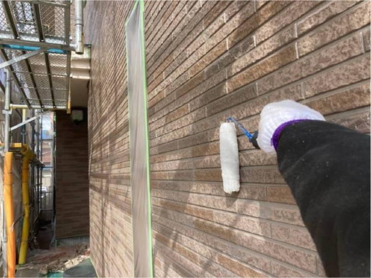 松戸市外壁塗装のクリア塗装