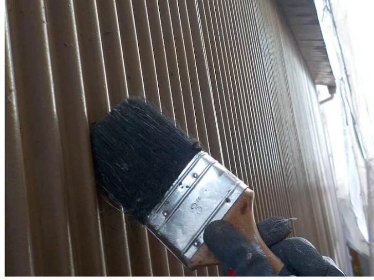豊島区の外壁塗装の鉄部のケレン作業
