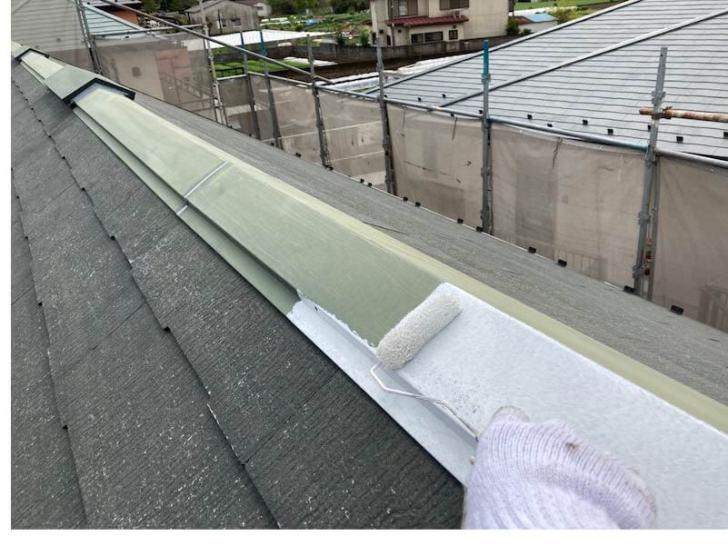 船橋市の屋根塗装の下塗り