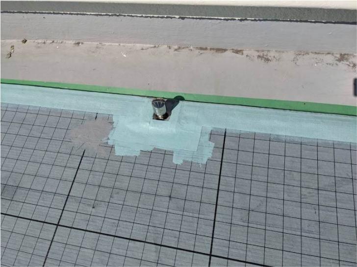 市川市の屋上防水工事のウレタン防水